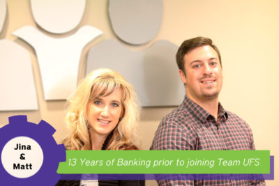 Jina and Matt 13 years of banking experience