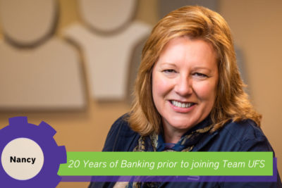 Nancy 20 years of banking experience